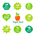 organic food farm fresh and natural product vector image vector image