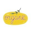 Organic food label Logo for vegan menu or food vector image vector image