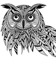 Owl bird head as halloween symbol vector image vector image