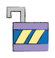 padlock open element to protection the information vector image vector image