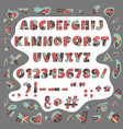 papercut colorful alphabet cute geometric vector image vector image