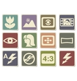 Photo modes icons set vector image