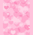 pink background of hearts of different sizes vector image
