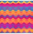 rainbow waves seamless pattern vector image