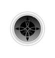 sacred flower and yoga meditation logo design vector image