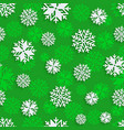 seamless snowflakes background for winter vector image vector image