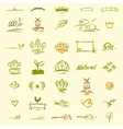 Set of natural elements for design vector image