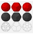 Set of three-dimensional geometric figures vector image vector image