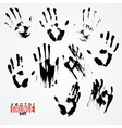 Set of traced ink handstamps Blots Grunge vector image vector image