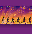 silhouette runners vector image