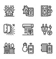 Smart construction icon set outline style