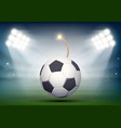 soccer ball on the stadium vector image