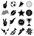 sports fans icons set vector image