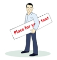 Standing man Colorful Template with vector image vector image