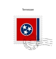 State of Tennessee flag postage stamp vector image vector image