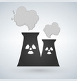 stock of nuclear power plant in flat style vector image vector image