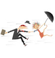 storm or hurricane and man with woman vector image vector image
