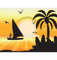 Sunset Beauty card vector image vector image