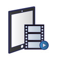 tablet and video player symbol vector image vector image