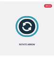 two color rotate arrow icon from user interface vector image vector image