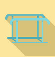 uneven bars icon flat style vector image vector image