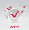 Vote concept background vector image vector image