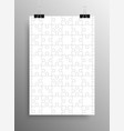 white puzzle pieces jigsaw vector image vector image
