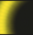 yellow simple halftone dotted background pattern vector image vector image
