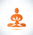 yoga meditation symbol vector image