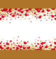 a seamless background for valentines day vector image