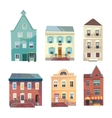 Set of city buildings shops and groceries in a vector image