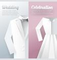 wedding ceremony invitation card paper cut vector image