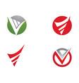 v letter logo business template icon design vector image