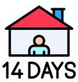 14 days quarantine filled style icon