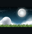 a golf field night time vector image