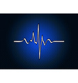 abstract blue cardio vector image vector image