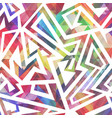 abstract colored geometric pattern vector image vector image