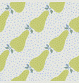 abstract green pears seamless pattern on dots vector image vector image