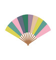 asian fan colorfull hand traditional fan isolated vector image vector image