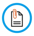 Attach Document Rounded Icon vector image vector image