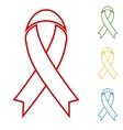 Black awareness ribbon Hand vector image