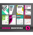 Brochure design mega set vector image