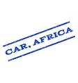 Car Africa Watermark Stamp vector image vector image