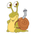 cartoon snail with a shell vector image vector image