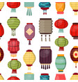 chinese lantern seamless pattern background vector image vector image
