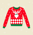 christmas ugly sweater vector image vector image