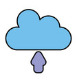 Cloud silhouette isolated icon
