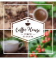coffee background design use in presentation vector image vector image