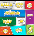 comic dialog cloud text pop-art vector image vector image