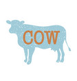 cow vintage silhouette vector image